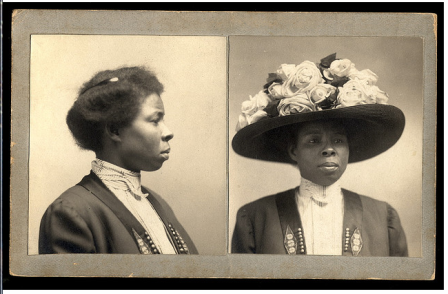 Mug shot taken 1906.  Hat size: large