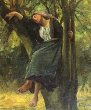 Asleep in the Woods artist: Jules Breton