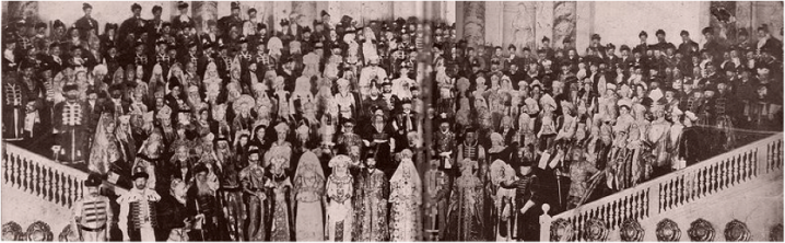Attendees of a Romanov Costume Ball, circa 1903