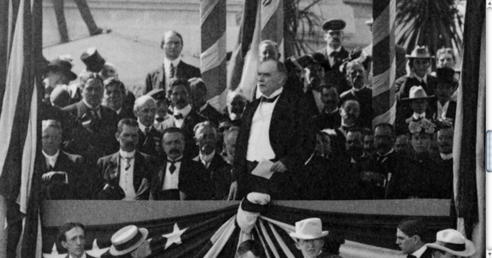McKinley, at the PanAm Exhibition, making his last speech