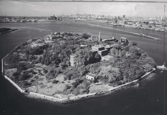 North Brother Island in East River