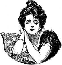 Illustrated Gibson Girl