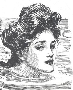 Gibson girls never looked less than poised an confident - even when swimming!