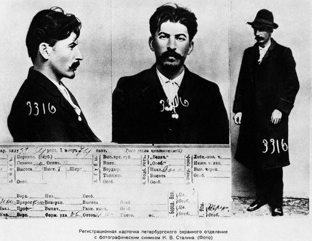 Joseph Stalin's Mug Shots