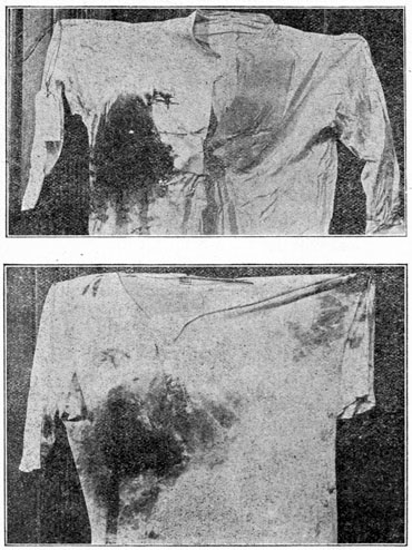 The shirts worn by Roosevelt when he was shot