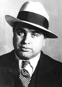 Al Capone, with fedora