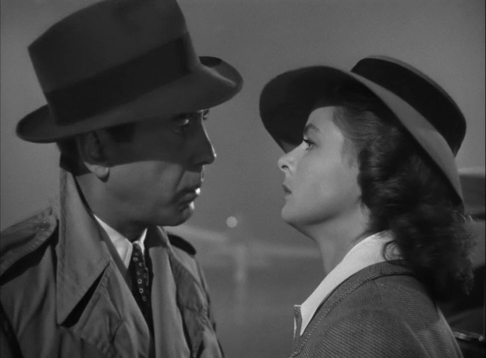 Ingrid Bergman and Humphrey Bogart