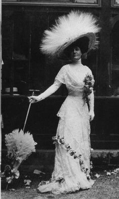 Edwardian hats were elaborate