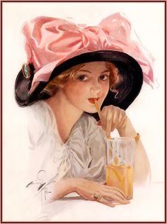 Gibson girl in a Gainsborough hat