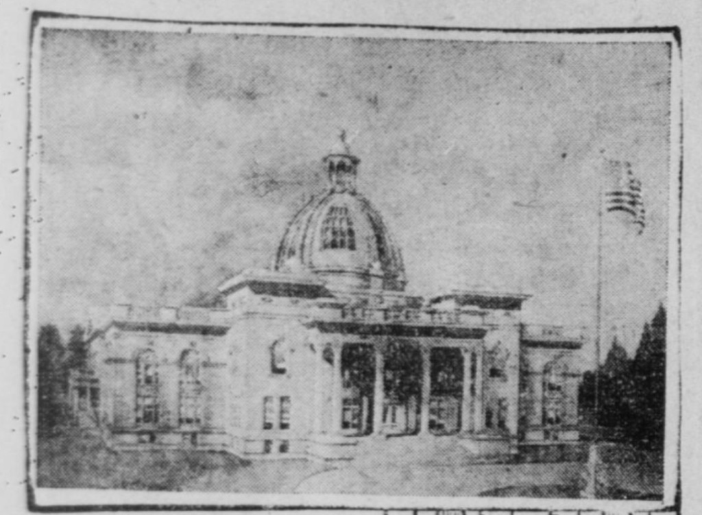 Artist conception of the San Mateo County courthouse