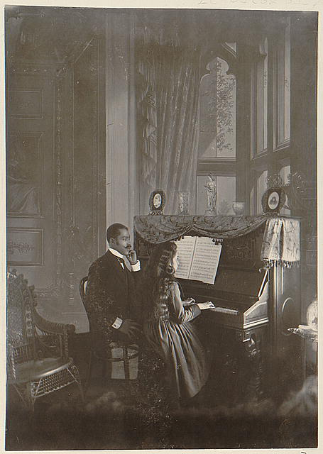 A piano lesson in the parlor, circa 1899 Reproduction Number- LC-DIG-ppmsca-08779