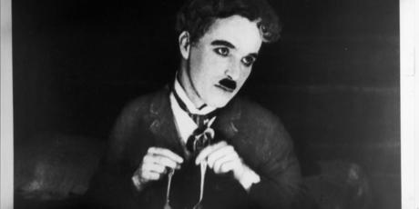 charlie chaplin's famous, instantly recognizable moustache