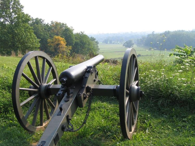 Civil war cannon Gettysburg 1913