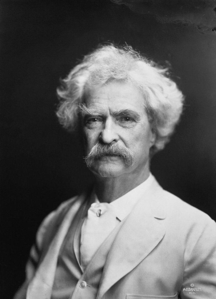 Mark Twain turn of the century writer moustache