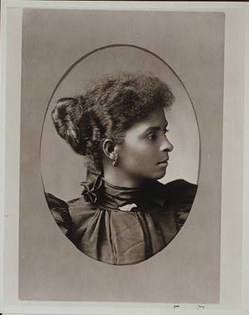 Reproduction Number- LC-USZC4-10674 A formal photograph of a woman's profile, circa 1900