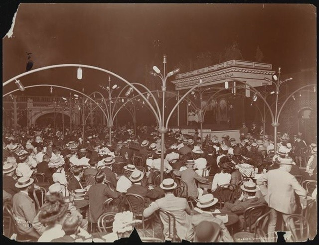 Madison Square Garden's rooftop garden, designed by Stanford White, and the site of his murder in 1906.