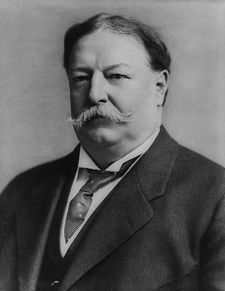 The ever-moustachio'd President William Howard Taft, circa 1912
