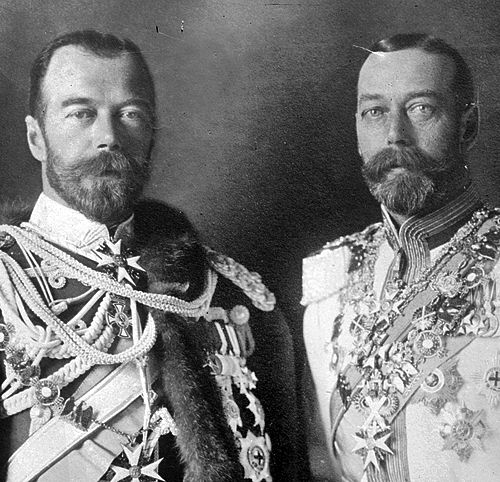 Tsar Nicholas II and George V