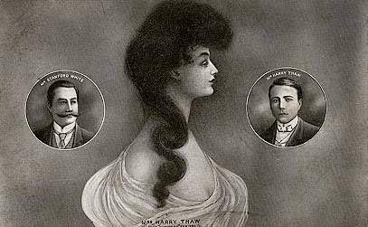 A drawing of Evelyn Nesbit as a Gibson Girl in 1905