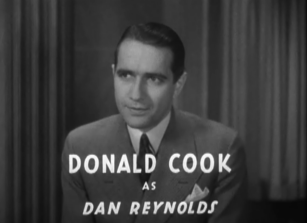 Donald Cook as Jenny's son, Dan Reynolds