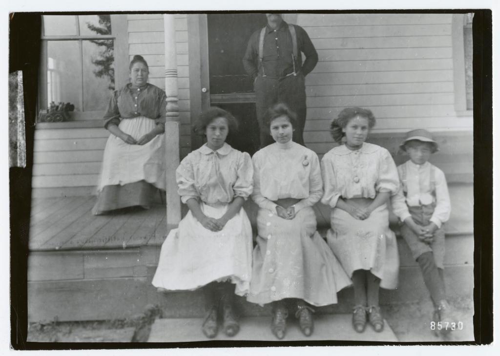 Group on the porch, circa 1900