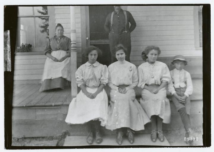 Group on the porch, circa 1900