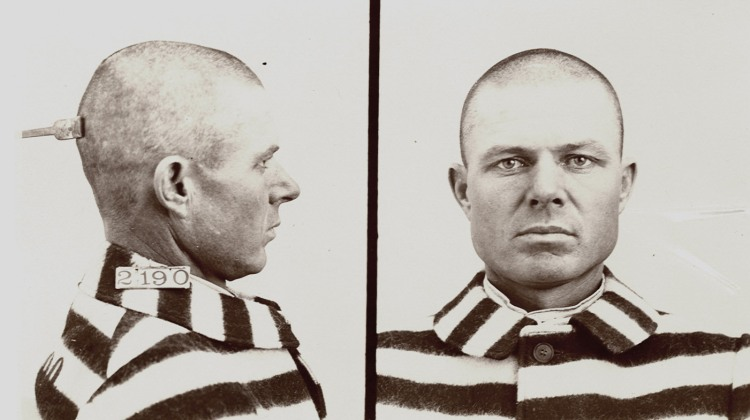 Arrested in 1900; this mugshot was taken in 1909